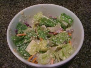 salad with tahini