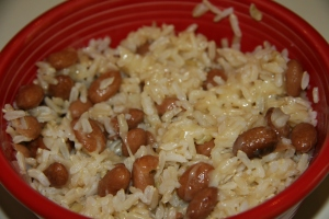 rice, beans, cheese